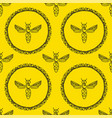 seamless pattern with bee vector image vector image