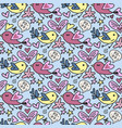 seamless pattern with cute teddy bears vector image vector image