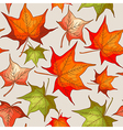seamless pattern with red and orange autumn leaves vector image vector image