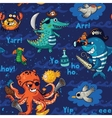 Seamless pattern with underwater pirates vector image vector image