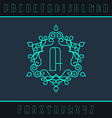 Set from the monogram and a font vector image vector image