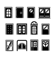 set icons doors vector image