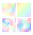 set of holographic backgrounds vector image