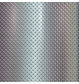 silver grille on steel background vector image vector image