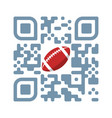 smartphone readable qr code play football vector image vector image