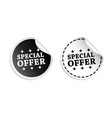 special offer sticker black and white vector image vector image