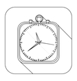 square shape with silhouette chronometer vector image vector image