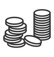 stack coins financial profit and economy vector image vector image