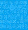 start up seamless pattern with thin line icons vector image