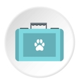 Suitcase for animals icon flat style vector image vector image