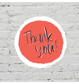 thank you on bricks vector image