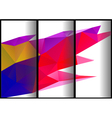 triangular banners vector image vector image