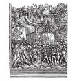 troops entering a town after a siege was created vector image vector image
