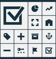 user icons set collection of home increase vector image