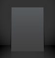 vertical black poster flyer mockup vector image vector image
