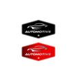 vintage classic automotive logo designs vector image vector image
