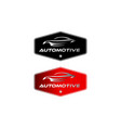 vintage classic automotive logo designs with the vector image vector image
