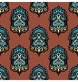 Vintage damask floral seamless design vector image vector image