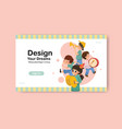 website template with youth day design for social vector image vector image