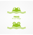 green frog head vector image