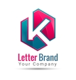 letter K logo template business icon vector image