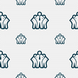business team icon sign Seamless pattern with vector image