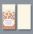 arabic card for invitation celebration save vector image vector image