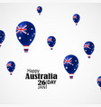australia national day vector image vector image