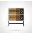 Bakery oven flat color design icon vector image