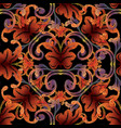 baroque tapestry seamless pattern vintage vector image vector image