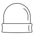 beanie icon outline style
