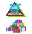 best offer premium banner with sale poster vector image vector image