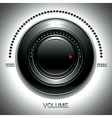 Black volume knob vector image