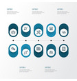 Building outline icons set collection of tipper