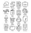 Business office icons in line style vector image vector image