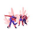 character showing funny disco joyful time dancing vector image