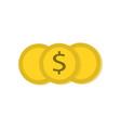 coin money icon vector image
