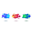 colorful fluid abstract geometric shapes vector image