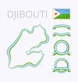 Colors of Djibouti vector image vector image