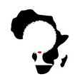 curly afro hair concept portrait african women vector image vector image