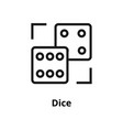 dice line icon vector image