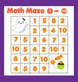 educatiional children game mathematics maze vector image vector image