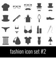 fashion icon set 2 gray icons on white vector image