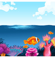 Fish swimming in the sea vector image vector image