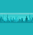 flat city silhouette background vector image