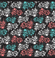 floral vintage seamless pattern for vector image vector image