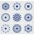 flowers set eps8 vector image vector image