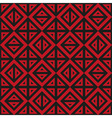 Geometric abstract black and red pattern seamless vector image vector image