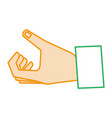 hand human catching icon vector image vector image