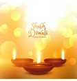 happy diwali hindu festival beautiful background vector image vector image